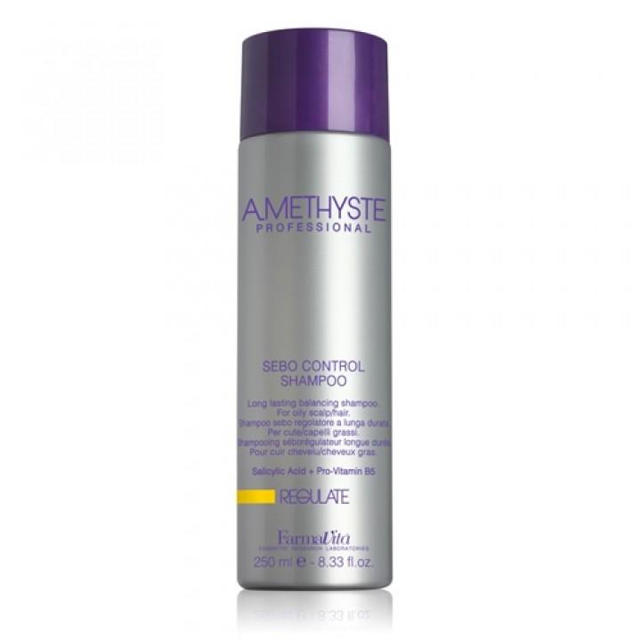 Amethyste Regulate Sebo Control Shampoo - Liečivý šampón, ktorý normalizuje PH pokožky hlavy (250 ml / 1000 ml)
